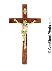 Crucifix - A crucifix isolated on white background