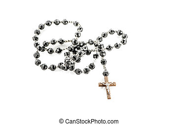 Crucifix - Bead collar crusifix isolated on white background