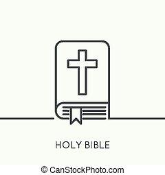 crucifix., biblia, abierto