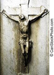 Crucifix - Old jesus christ statue