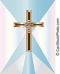 crucifix, or, diamants