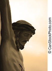 Crucifix - Shot of a crucifix at the front of St...