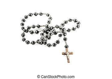 Crucifix - Bead collar crusifix isolated on white background