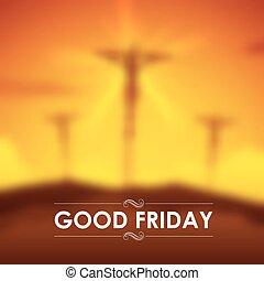 crucifixión, bueno, cristo, viernes, jesús