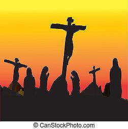 crucifixión, cristo, jesús