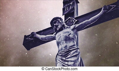 Crucifixion cross with Jesus Christ