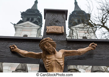 crucifixion jesus. good friday and easter