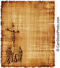 Crucifixion of Christ Parchment