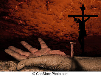 Crucifixion of christ - The hand of Jesus -Jesus Christ is ...