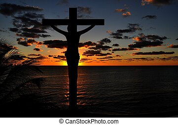 Crucifixion of Jesus Sunset