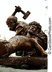 Crucifixion - Sculpture depicting the crucifixion of Jesus...
