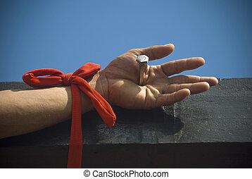 Crucifixion - Participant in the Senakulo in Cutud, San...