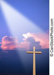 crucifixos, e, luz