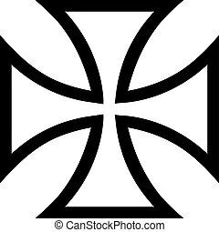 crucifixos, ferro, contorno