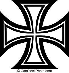 crucifixos, ferro, esboço