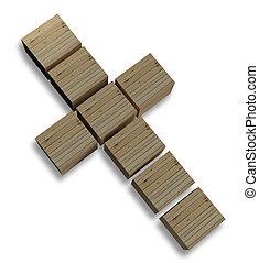 crucifixos, isolado, ligado, whi