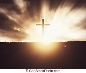 crucifixos, sunset.
