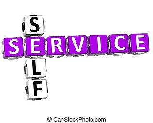 crucigrama, auto servicio, 3d