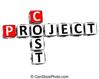 crucigrama, coste, proyecto, 3d