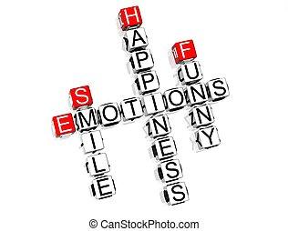 crucigrama, emociones