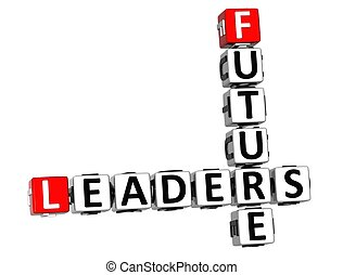 crucigrama, futuro, líderes, 3d
