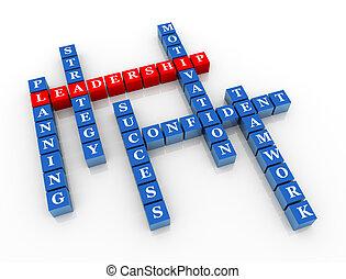 crucigrama, liderazgo, 3d