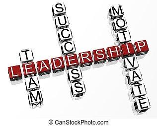 crucigrama, liderazgo