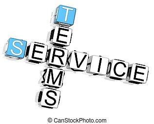 crucigrama, términos, servicio
