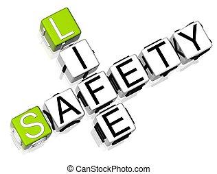 crucigrama, vida, seguridad