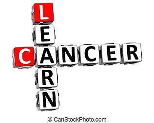 cruciverba, 3d, cancro, imparare
