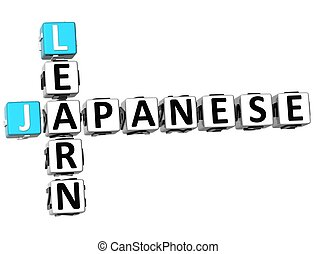 cruciverba, 3d, giapponese, imparare