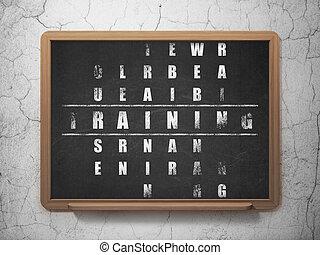 cruciverba, addestramento, educazione, puzzle, concept: