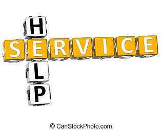 cruciverba, aiuto, servizio, 3d
