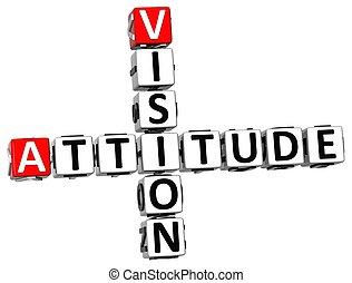 cruciverba, atteggiamento, visione, 3d
