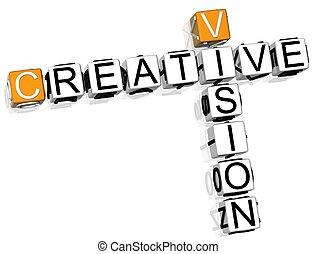 cruciverba, creativo, visione