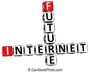 cruciverba, futuro, 3d, internet