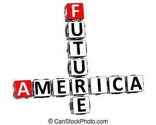 cruciverba, futuro, america, 3d