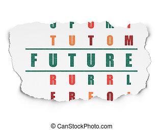 cruciverba, futuro, concept:, tempo