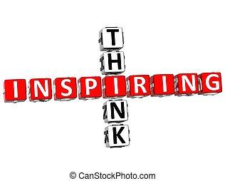 cruciverba, inspirando, pensare
