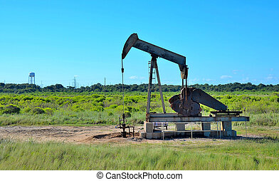 Crude oil pump in field