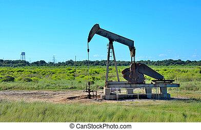 Crude oil pump in field