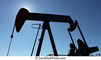 Crude oil pump with sun