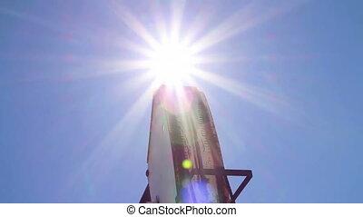 Crude oil pump with sun