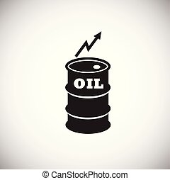 Crude oil rate barrel on white background