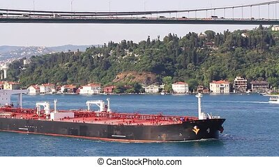 Crude oil tanker ship