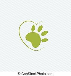 crudeltà animale, libero, logo., non, esaminato, su, animali, simbolo.