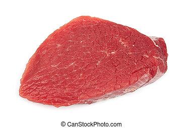 crudo, carne
