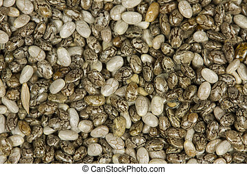 crudo, orgánico, chia, semillas