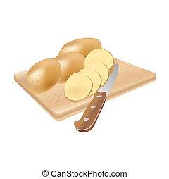 crudo, patate