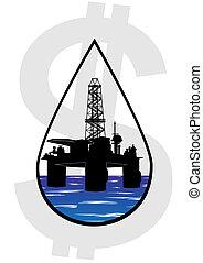 crudo, producción, aceite
